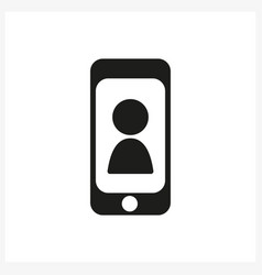 Smartphone icon in simple black design vector