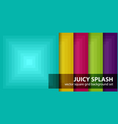 Square pattern set juicy splash seamless vector