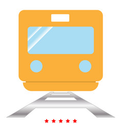 train icon color fill style vector image vector image