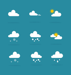 weather set icon vector image