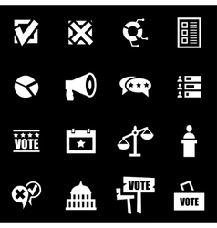 white election icon set vector image