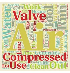 Why care if there is water in your compressed air vector