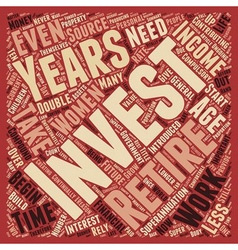 Why do we need to invest text background wordcloud vector image
