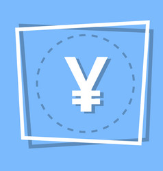 Yen sign icon currency web button vector