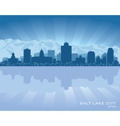 Salt Lake City Utah skyline city silhouette vector image