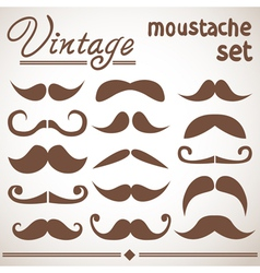 Vintage hipster moustache collection vector