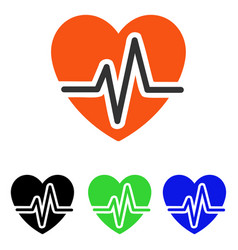 Heart diagram flat icon vector