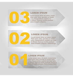 Label set with infographic steps vector