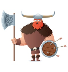 Viking on white vector