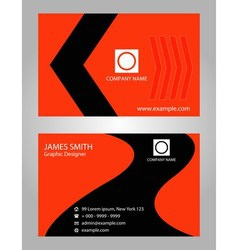 Name card - card visit orange vector