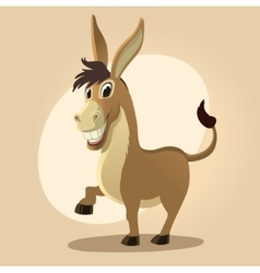 Donkey character in cartoon style vector