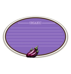 Line paper design with eggplant vector