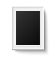 Vertical white A4 wooden frame vector image