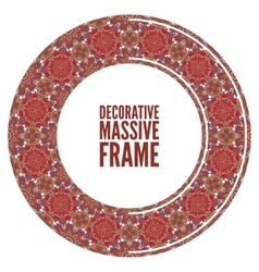 Colorful round ornamental frame vector