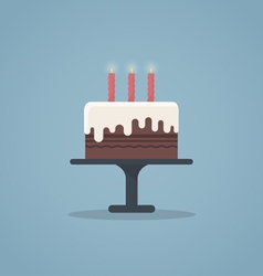 Birthday cake flat vector
