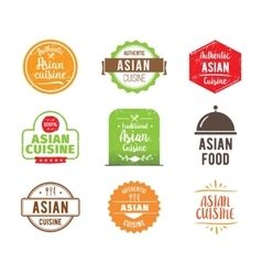 Asian cuisine label vector