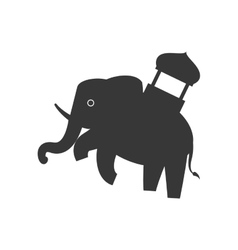 Elephant as sacred animal icon indian culture vector
