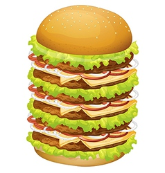 A big pile of hamburger vector