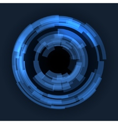 Abstract Technology Blue Circles Background vector image vector image