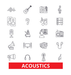 acoustics sound music guitar electric vector image vector image