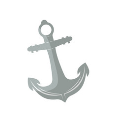 anchor for boat isolated icon vector image vector image