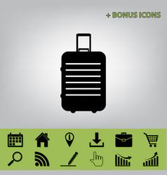 Baggage sign black icon at vector