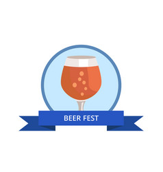 Beer fest snifter glass of drink in glassware vector
