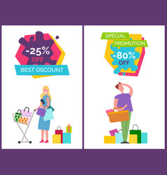 best discount and special vector image vector image