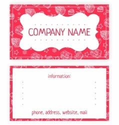 Business card of white cakes vector