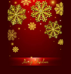 Christmas calligraphic design snowflake vector
