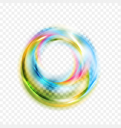 colorful glowing shiny abstract circles on vector image