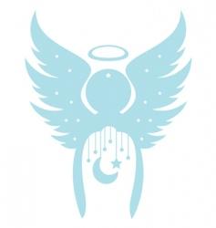 decorative angel vector image