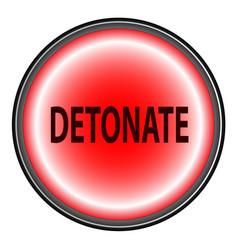 Detonate button vector