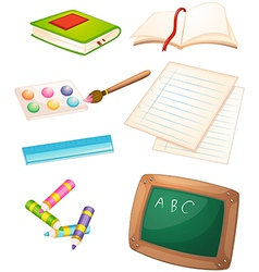 Different things used in the school vector image vector image