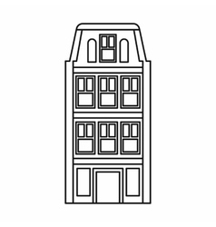 Dutch houses icon outline style vector
