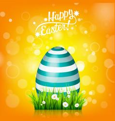 easter egg hunt orange yellow background april vector image