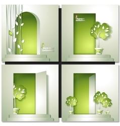 Eco house vector
