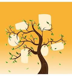 Family tree hang tag vector