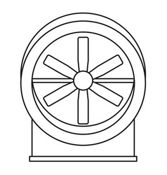 fan with twist mechanism icon outline style vector image