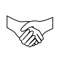 Figure handshake sticker icon vector