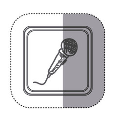 Figure symbol microphone instrument icon vector