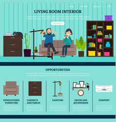 flat design studio website template vector image vector image