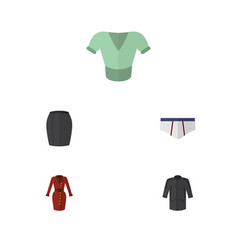 Flat icon garment set of uniform casual vector