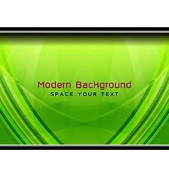 Green modern geometric background vector