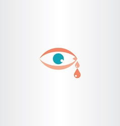 Human eye cry tear icon vector
