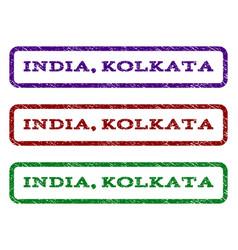 India kolkata watermark stamp vector
