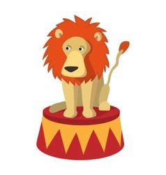 Lion circus cartoon vector image