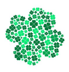 Lot of various green cloverleaf for happy eps10 vector
