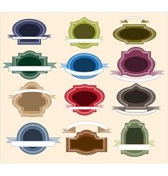 Retro Frame Set vector image vector image