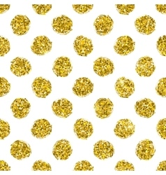 Seamless pattern gold polka dot vector
